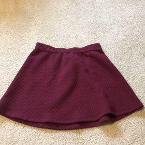 Maroon skater style skirt